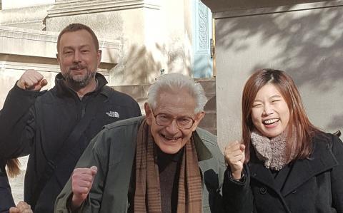 MIT Alumna Dr. Miso Kim, 2017-11-28 (shown here with Profs Dugundji & Wardle)