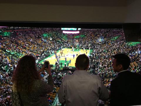 Celtics and Pistons at TD Garden